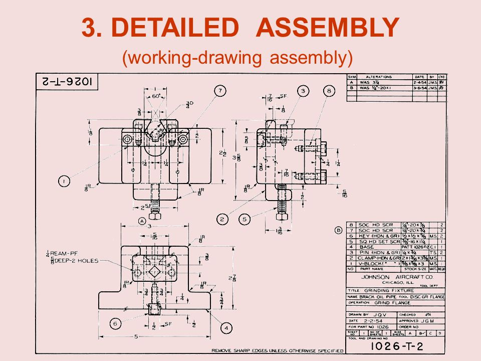 3. DETAILED ASSEMBLY (working-drawing assembly)