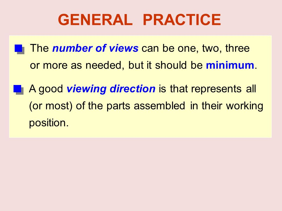 GENERAL PRACTICE The number of views can be one, two, three