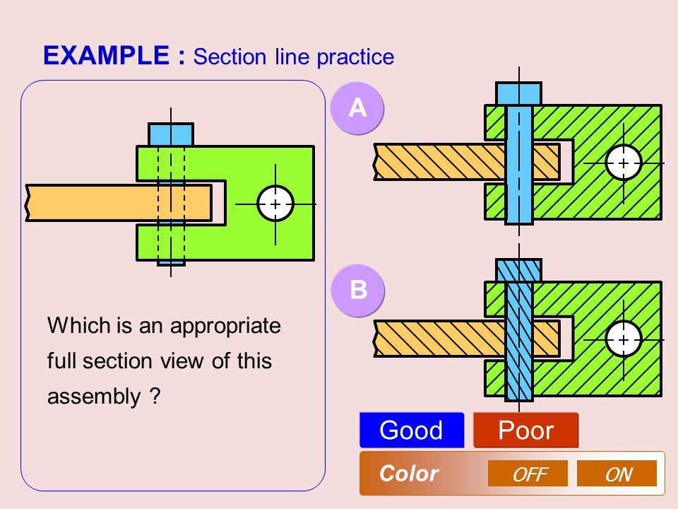 EXAMPLE : Section line practice