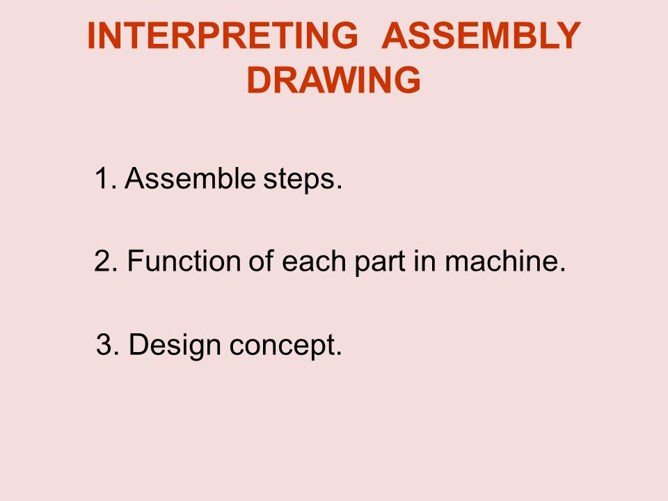INTERPRETING ASSEMBLY DRAWING