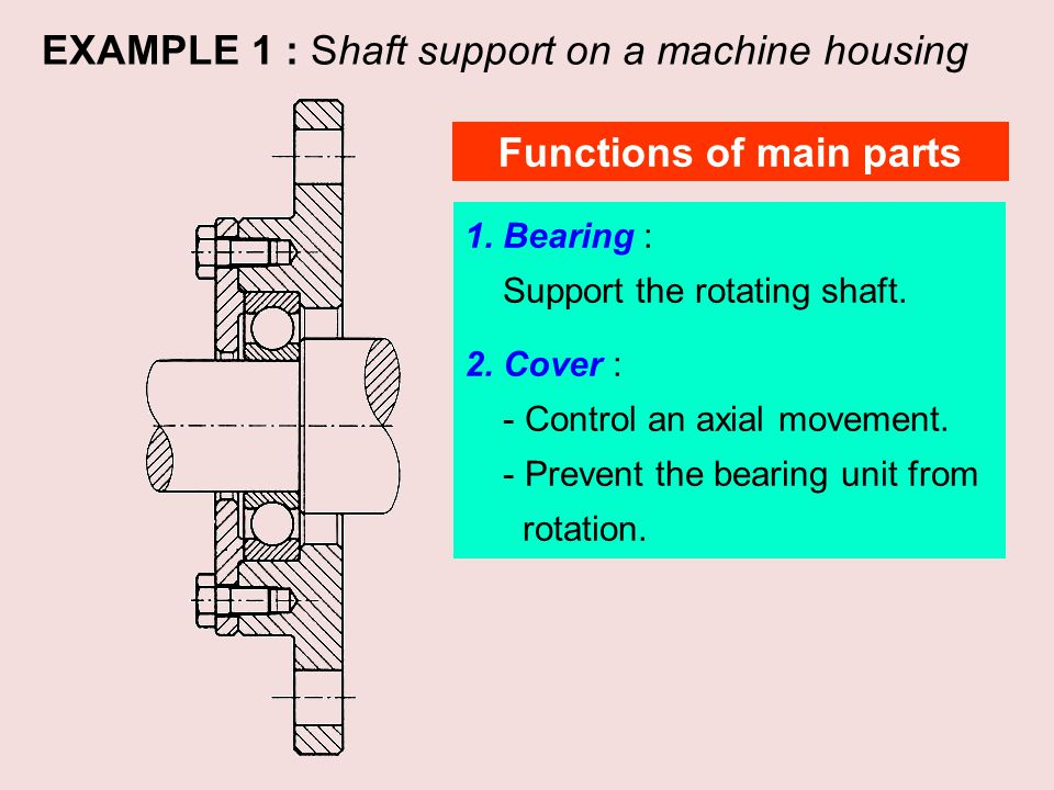 Functions of main parts