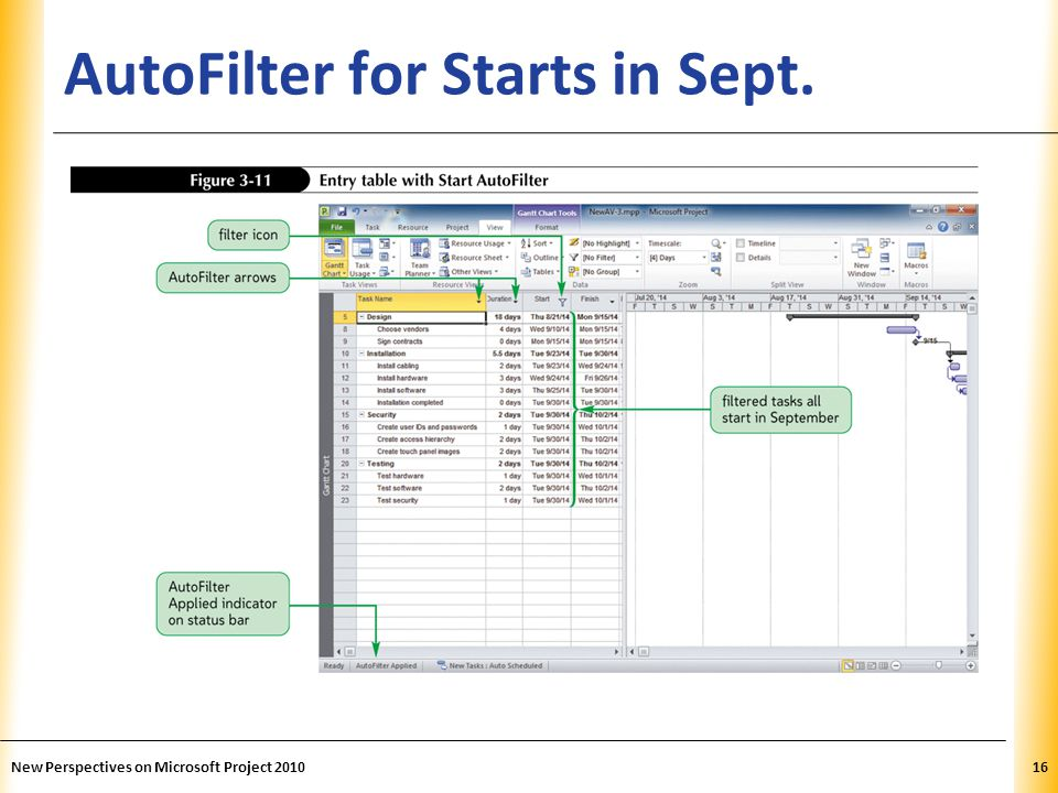 AutoFilter for Starts in Sept.