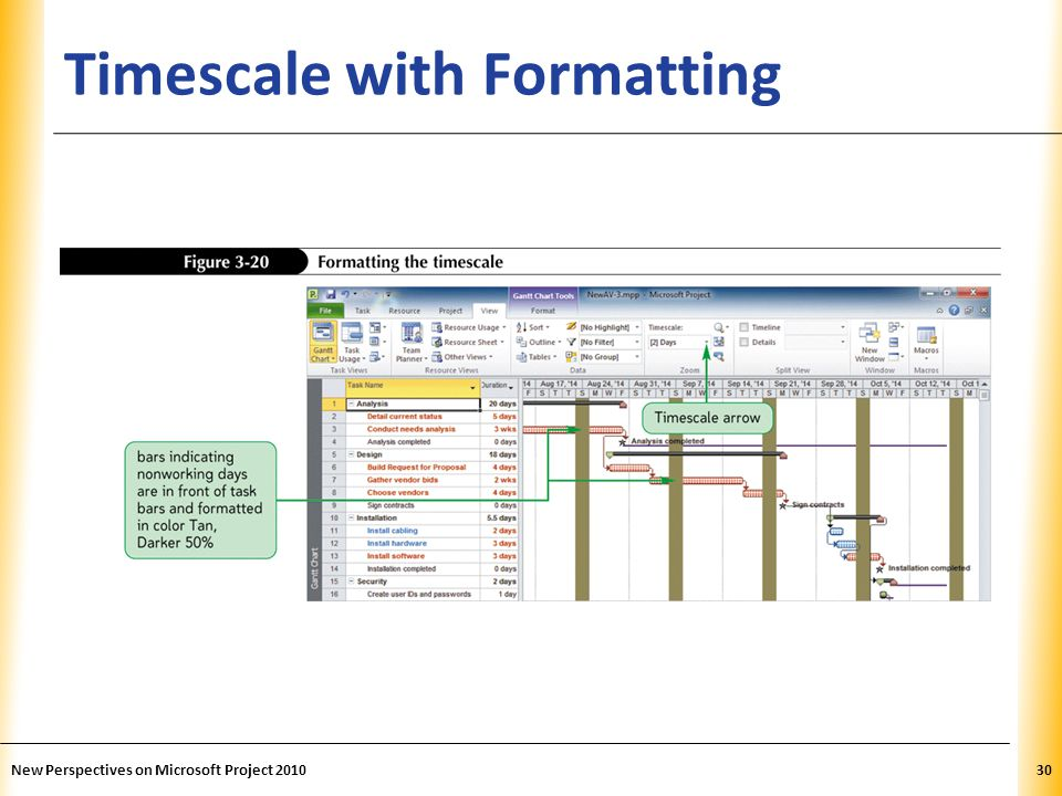 Timescale with Formatting