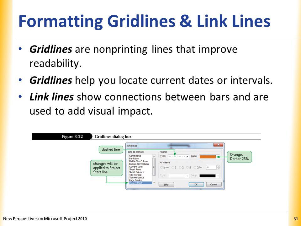 Formatting Gridlines & Link Lines