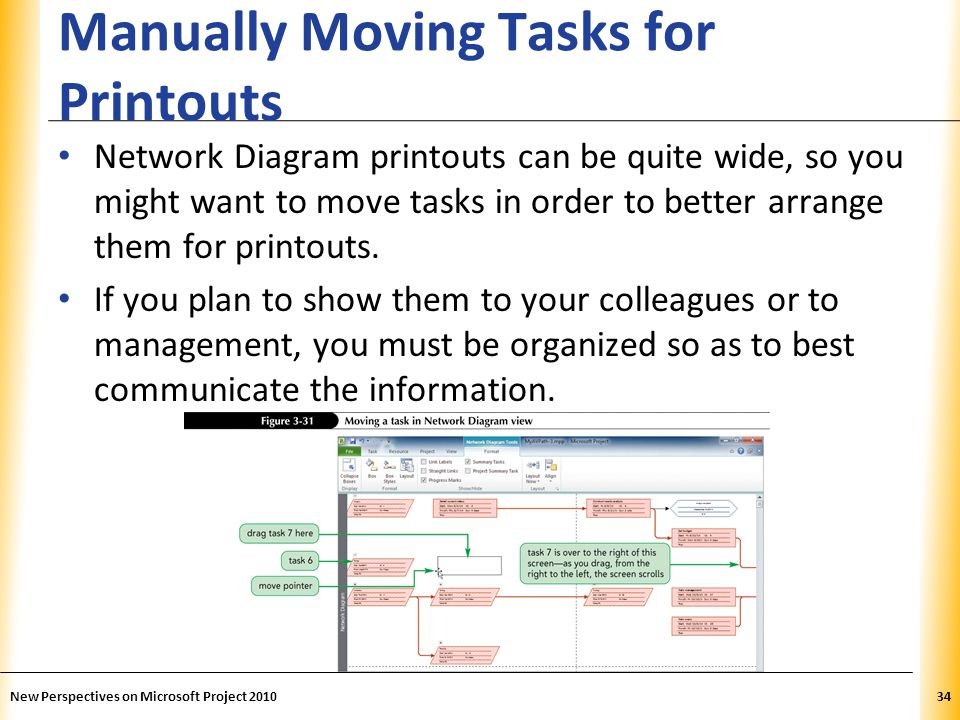 Manually Moving Tasks for Printouts