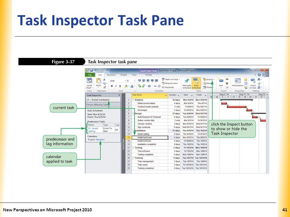 Task Inspector Task Pane