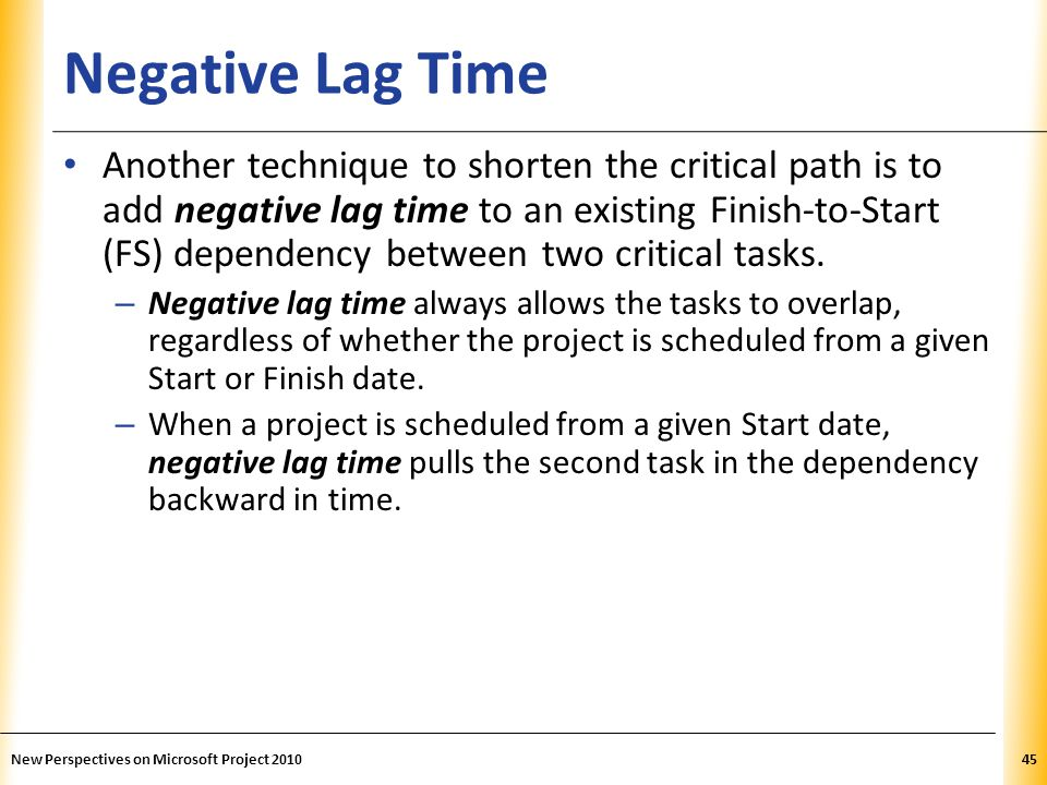 Negative Lag Time