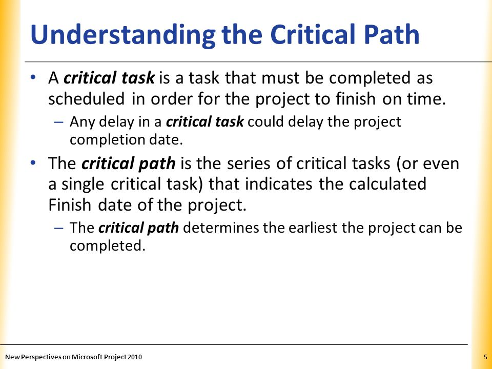 Understanding the Critical Path