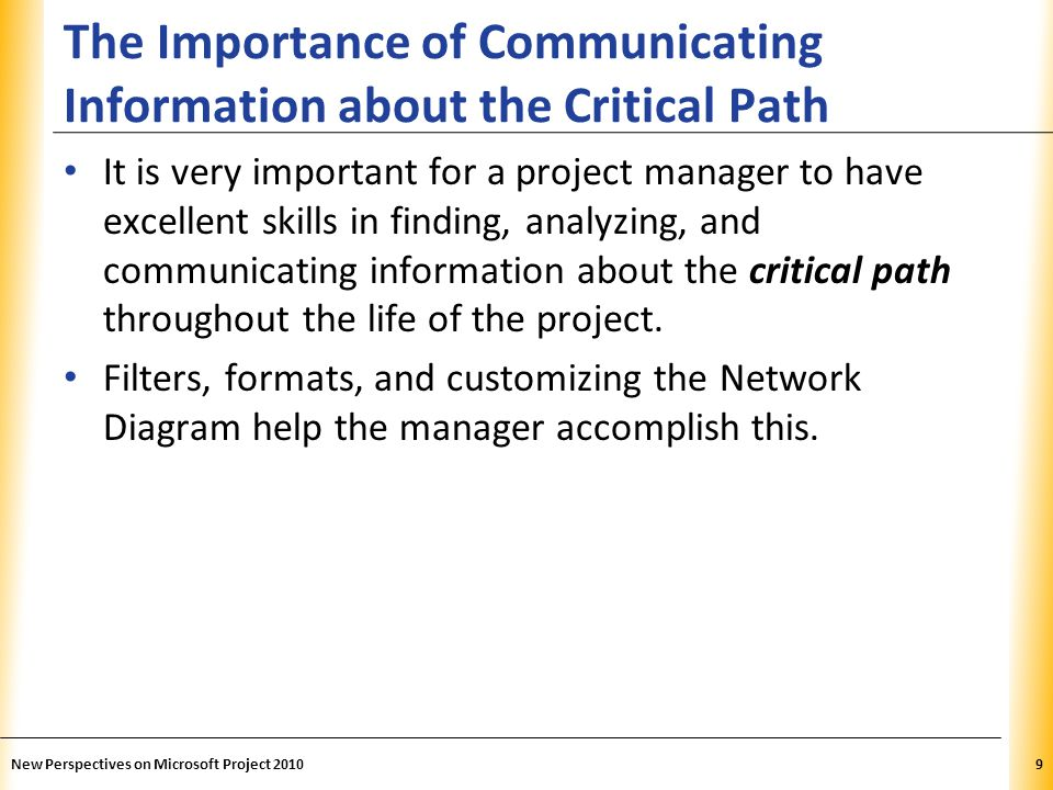 The Importance of Communicating Information about the Critical Path