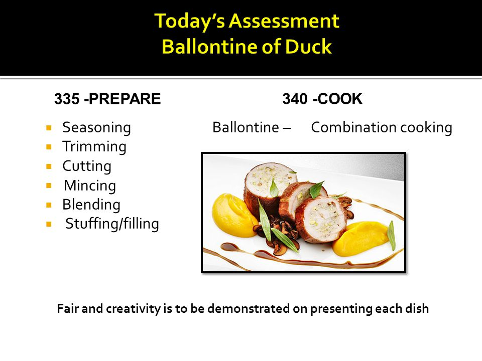 Today's Assessment Ballontine of Duck
