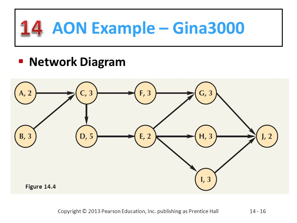 AON Example – Gina3000 Network Diagram Figure 14.4