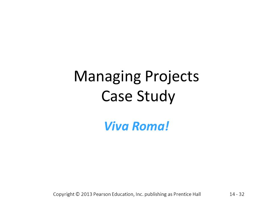 Managing Projects Case Study