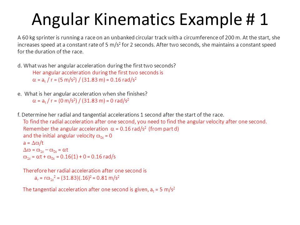 Angular Kinematics Example # 1