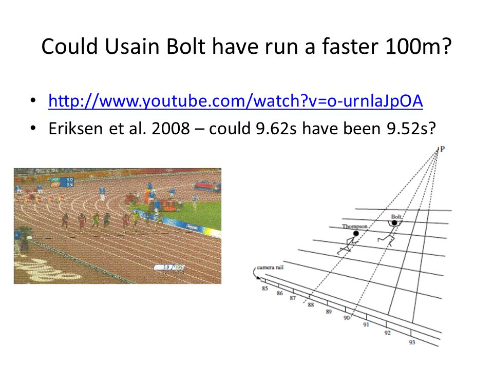 Could Usain Bolt have run a faster 100m
