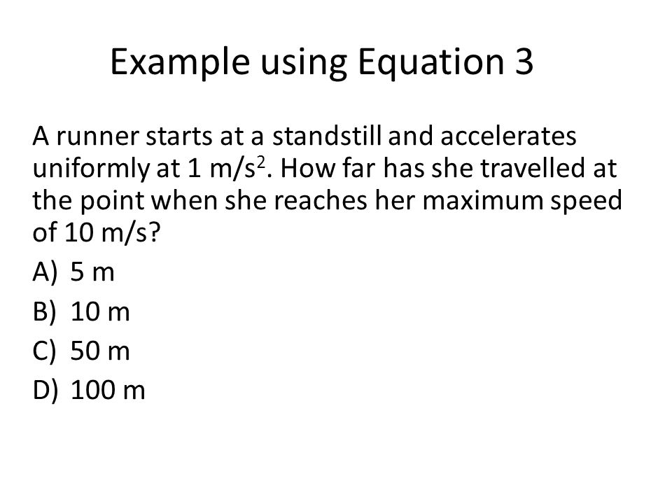 Example using Equation 3