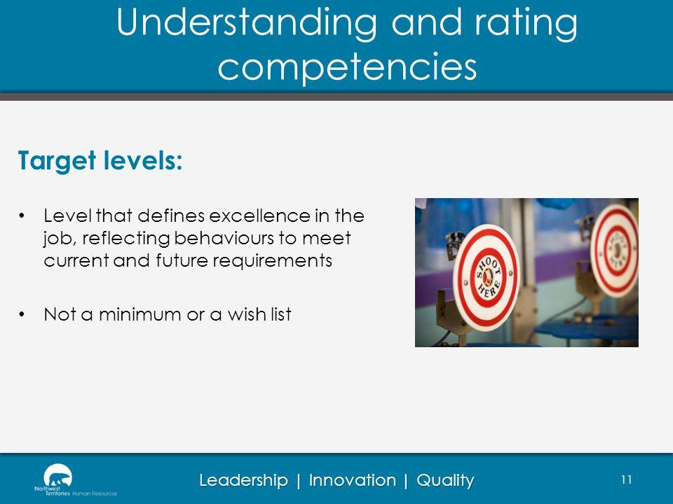Understanding and rating competencies