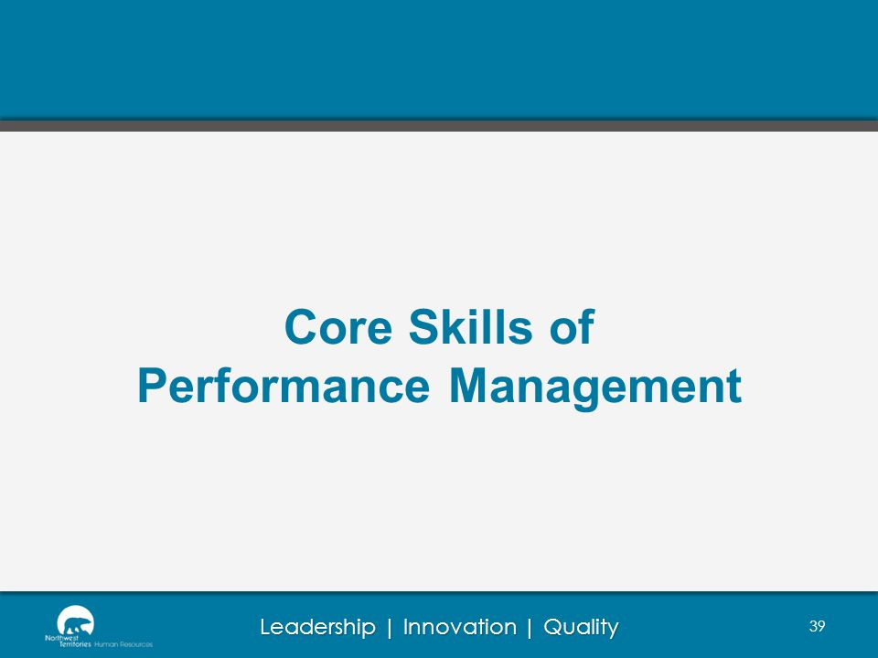 Core Skills of Performance Management