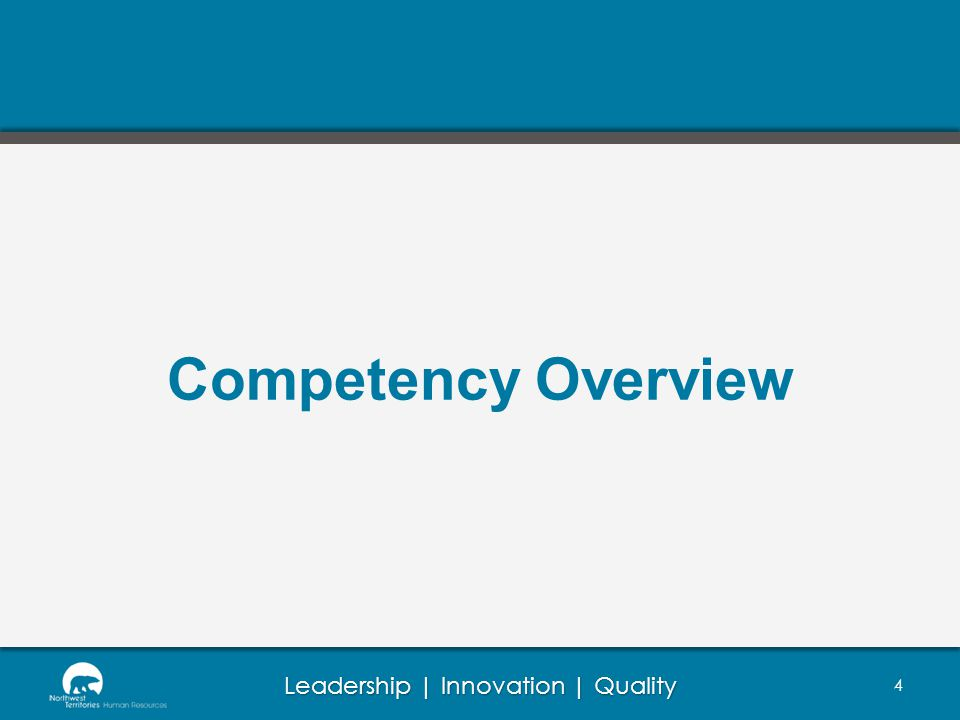 Competency Overview