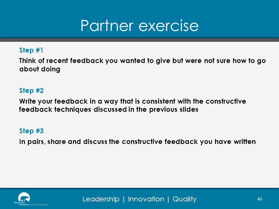 Partner exercise Step #1