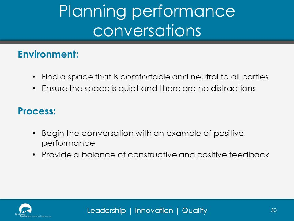Planning performance conversations