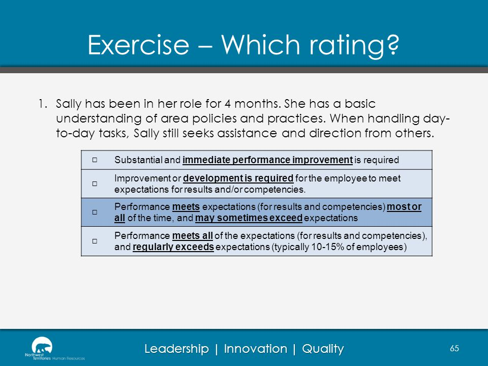 Exercise – Which rating