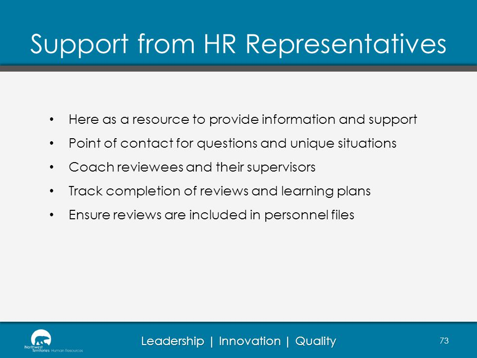 Support from HR Representatives