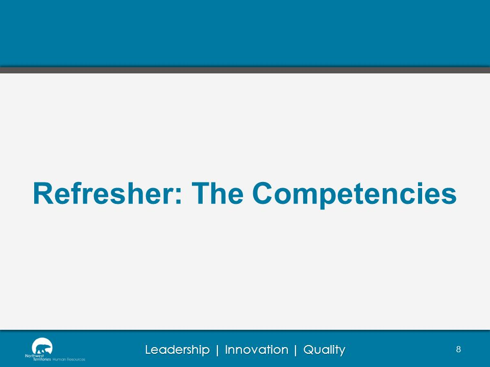 Refresher: The Competencies