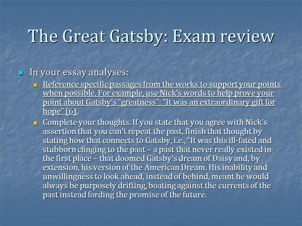 the great gatsby chapter 1 essay question How to cite http://wwwgradesavercom/the-great-gatsby/study-guide/essay-questions in mla format ross chapter 1 chapter 2 chapter 3 essays for the great.