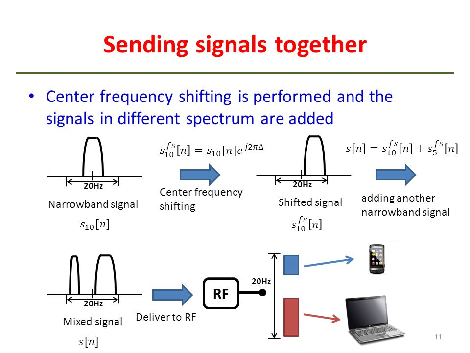 Sending signals together