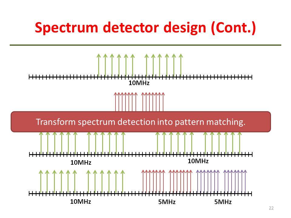 Spectrum detector design (Cont.)
