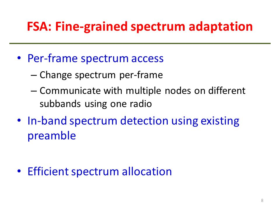 FSA: Fine-grained spectrum adaptation