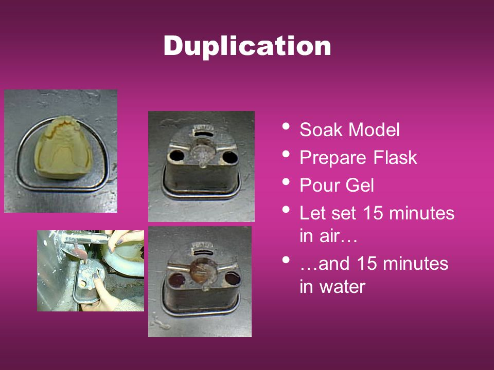 Duplication Soak Model Prepare Flask Pour Gel