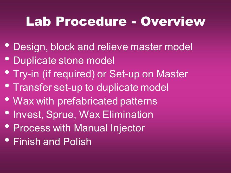 Lab Procedure - Overview