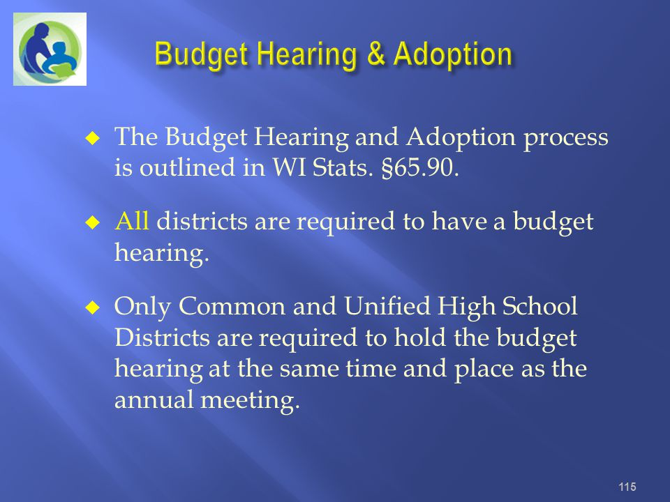 Budget Hearing & Adoption