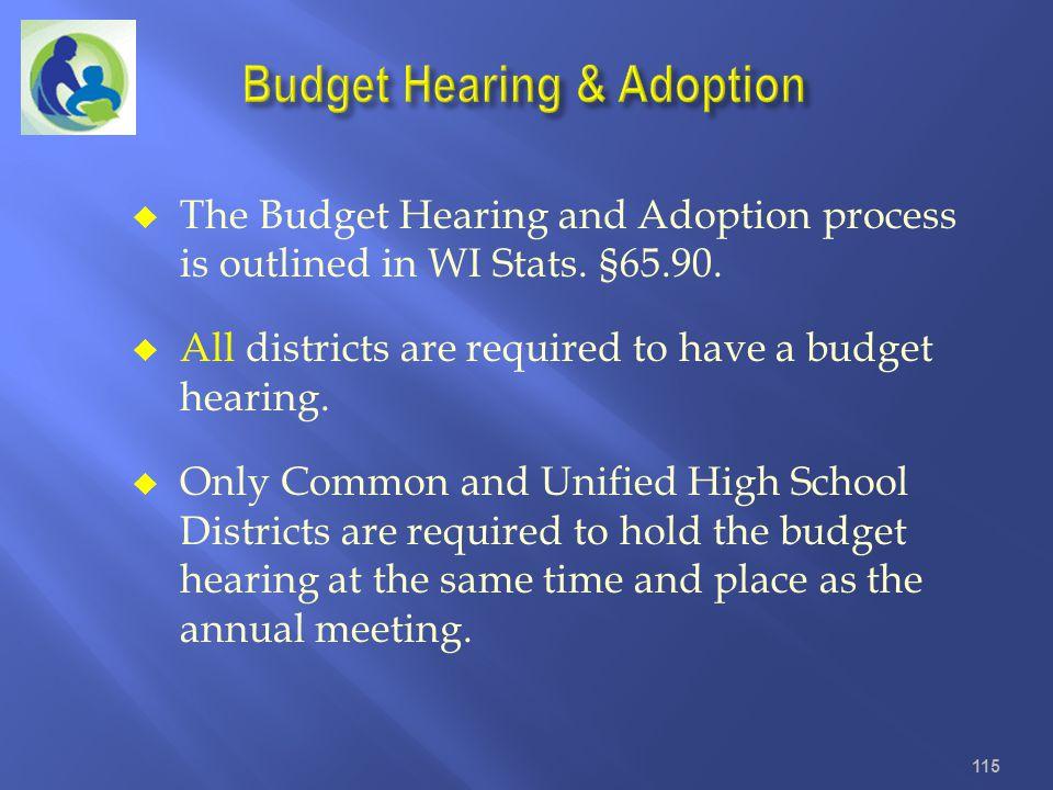 Budget Hearing & Adoption