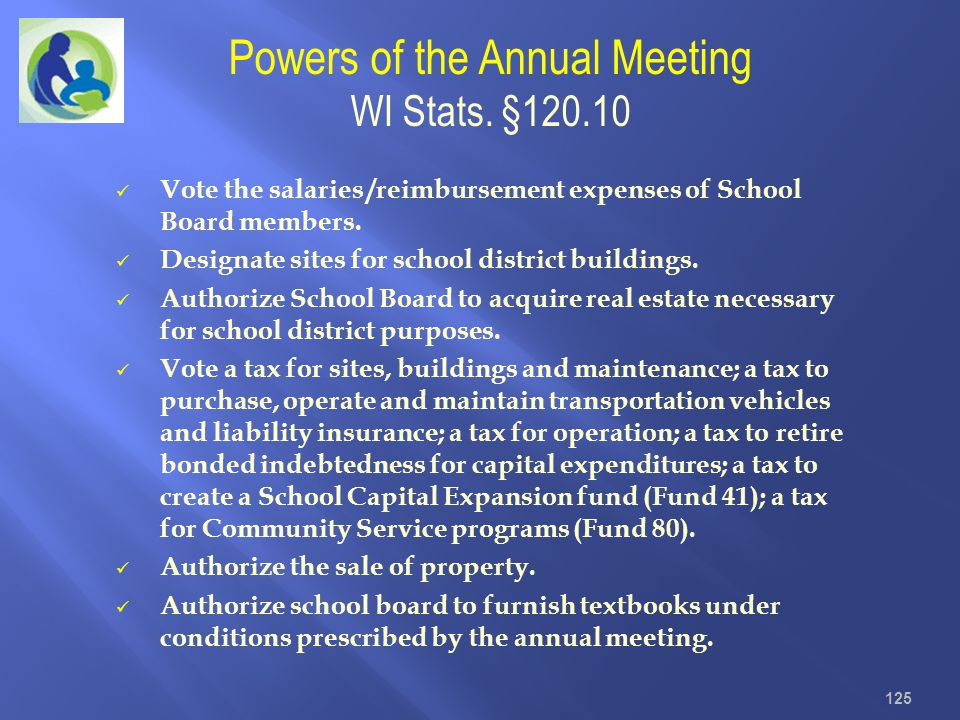 Powers of the Annual Meeting