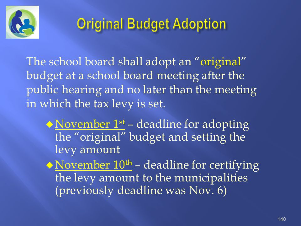 Original Budget Adoption