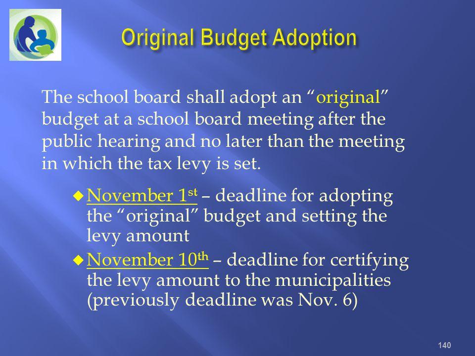 Original Budget Adoption