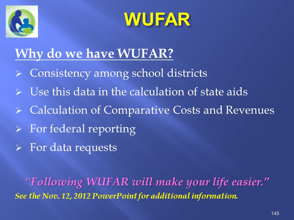 Following WUFAR will make your life easier.