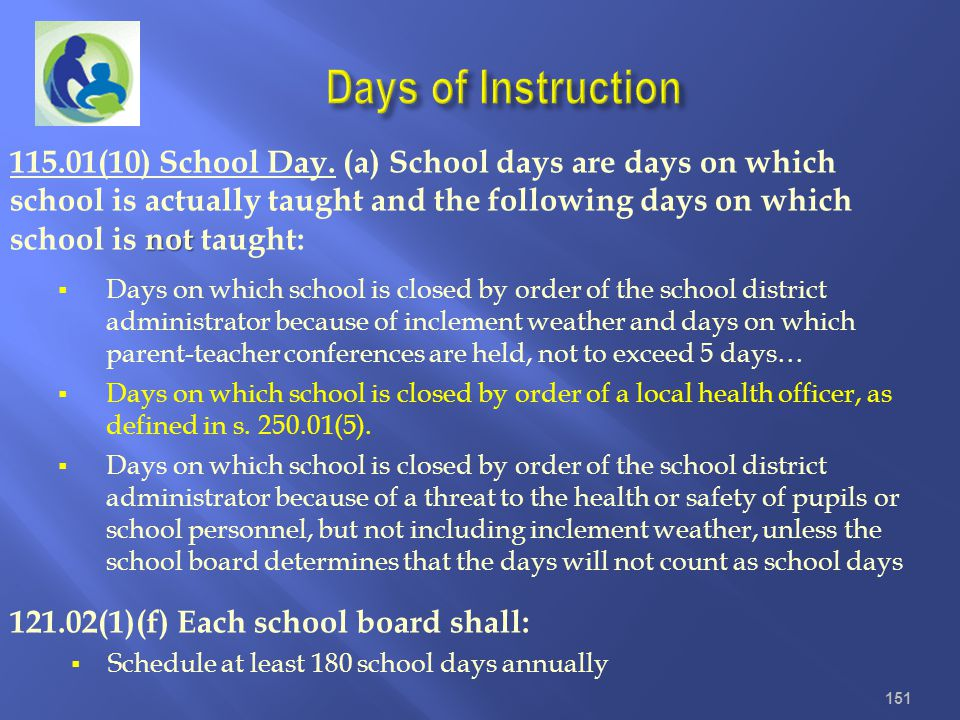 Days of Instruction