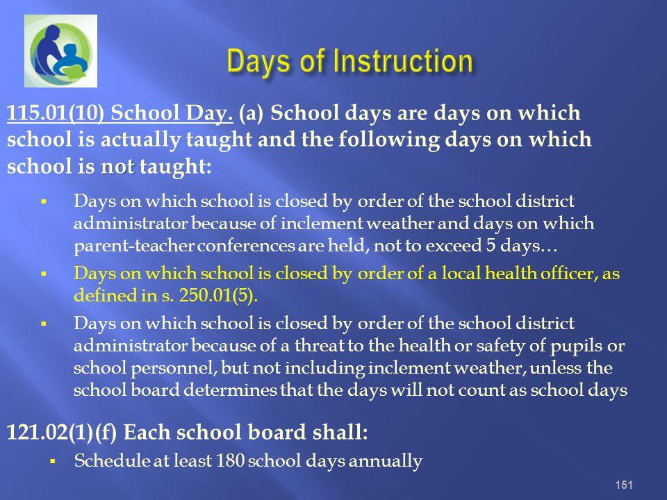 Days of Instruction