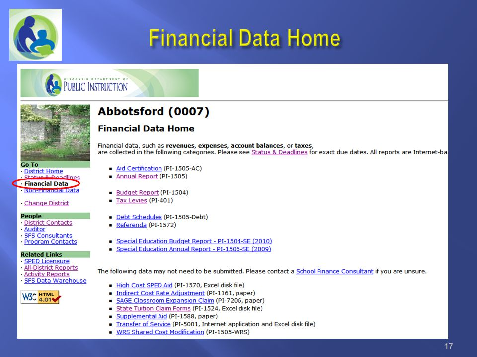 Financial Data Home