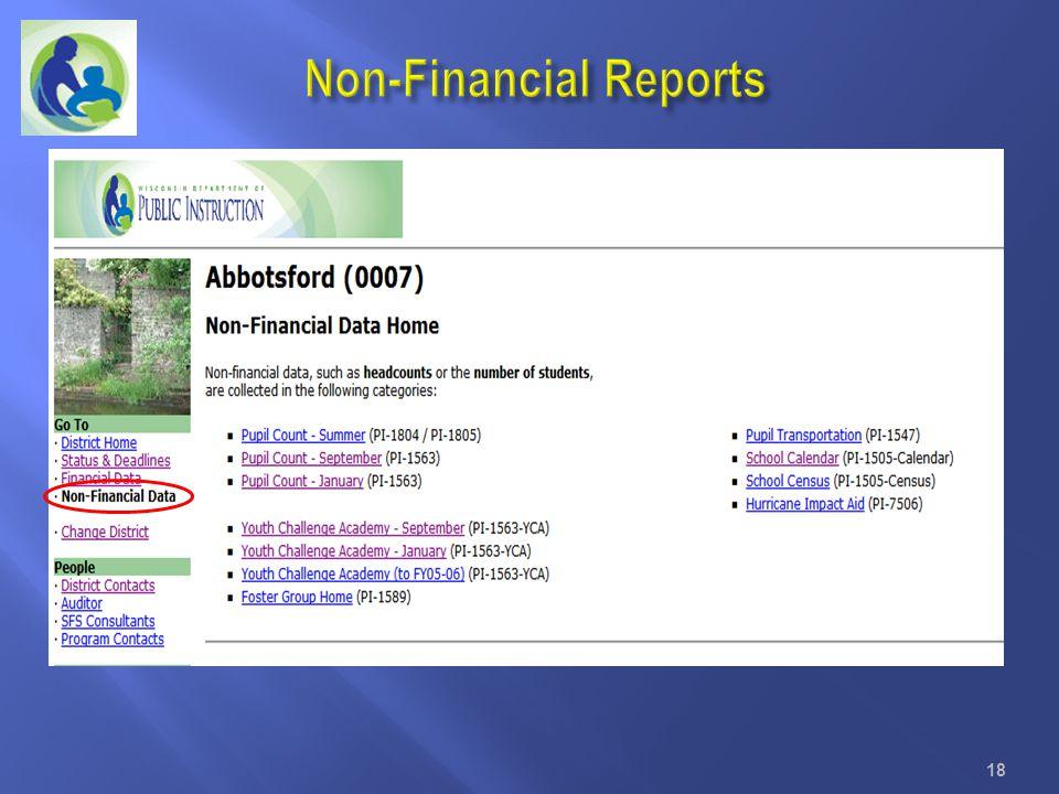 Non-Financial Reports