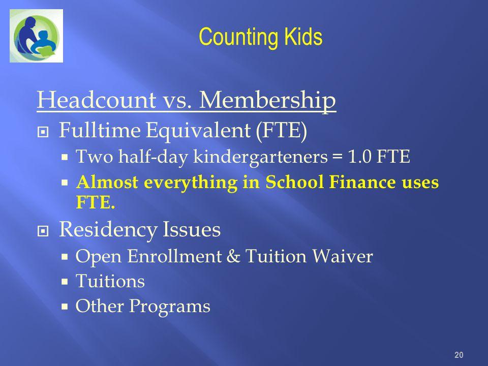 Headcount vs. Membership