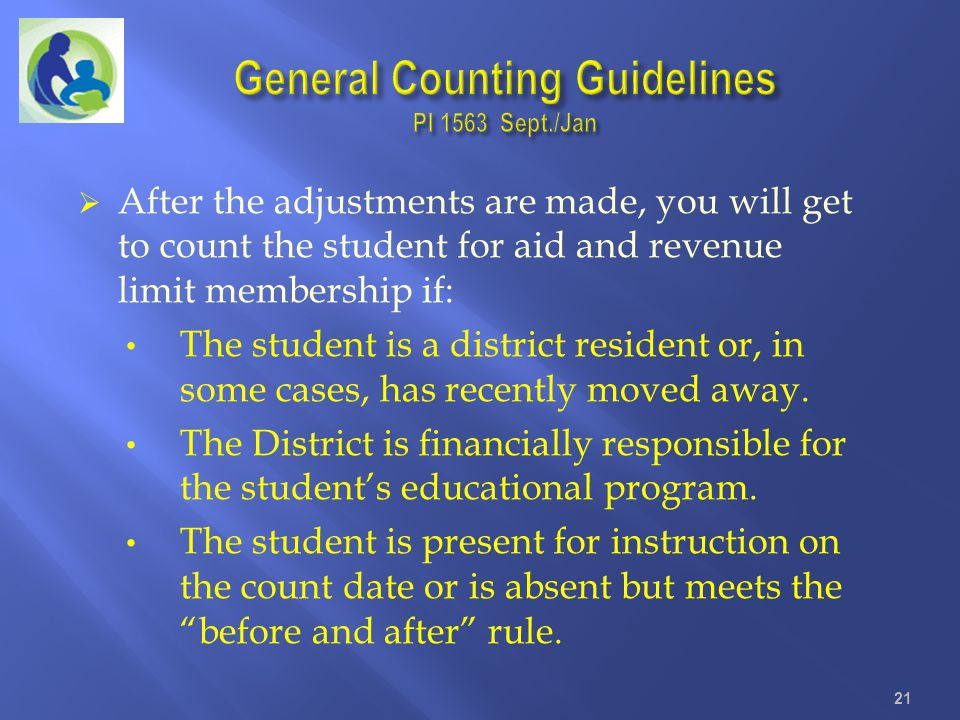 General Counting Guidelines PI 1563 Sept./Jan