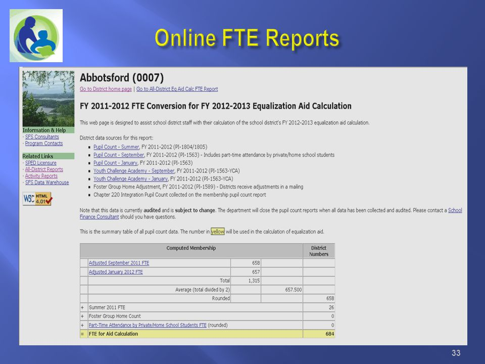 Online FTE Reports