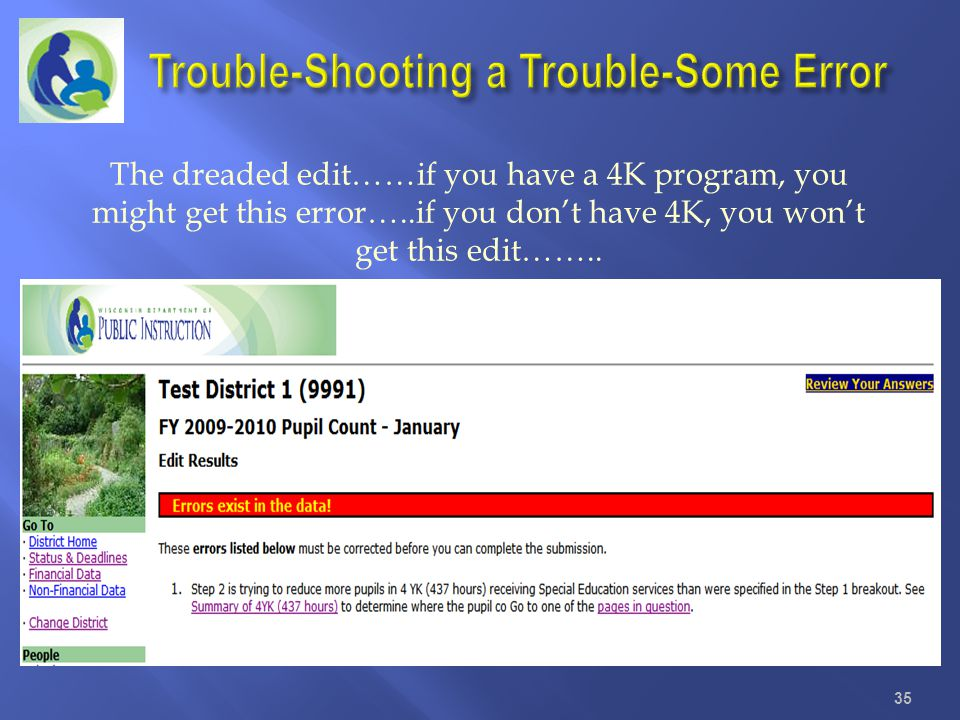 Trouble-Shooting a Trouble-Some Error