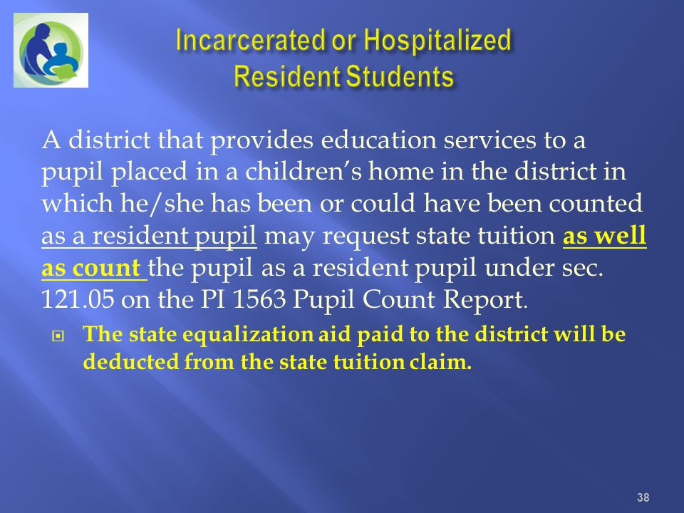 Incarcerated or Hospitalized Resident Students