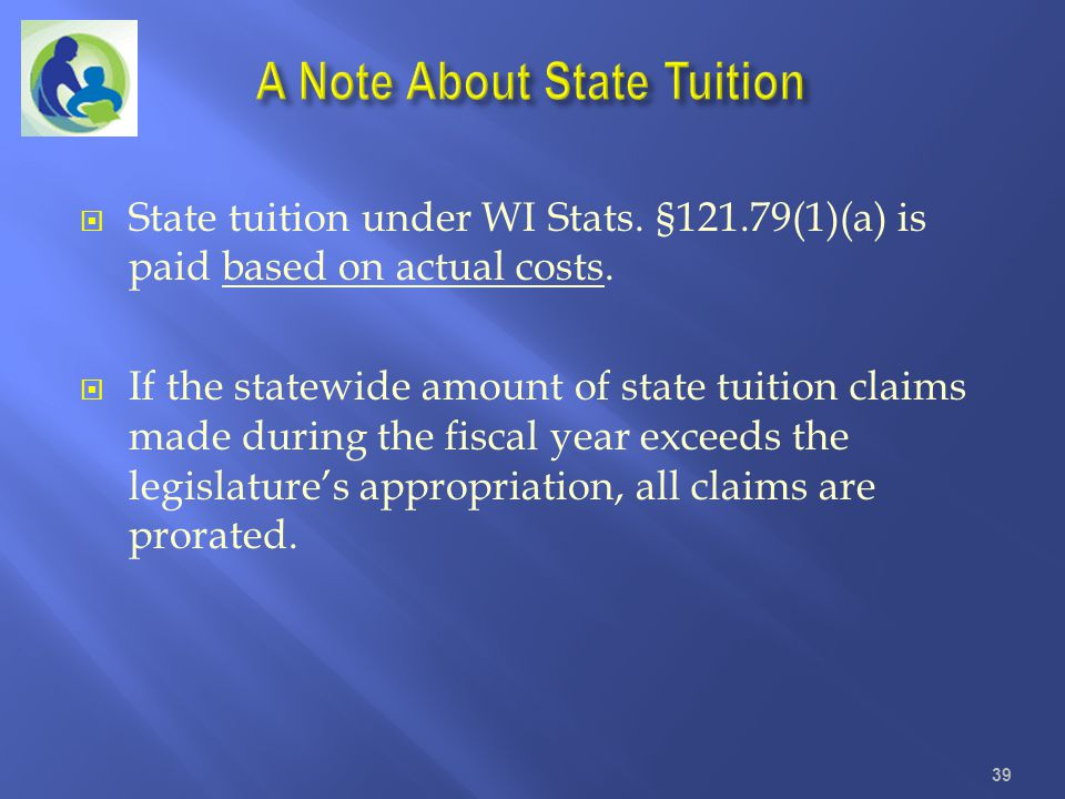 A Note About State Tuition