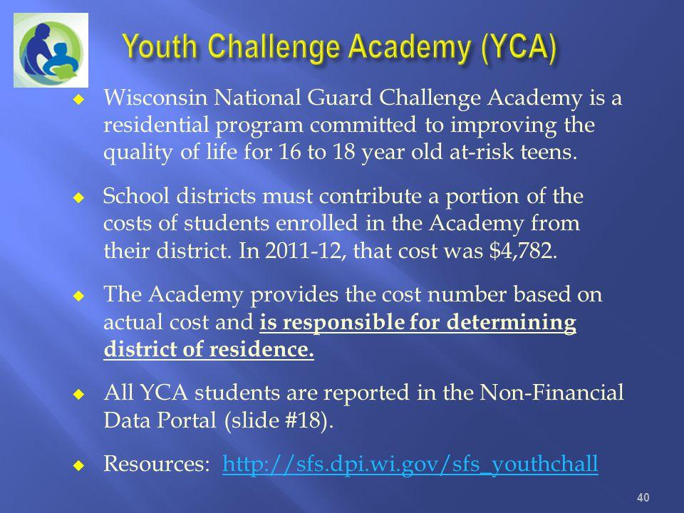Youth Challenge Academy (YCA)